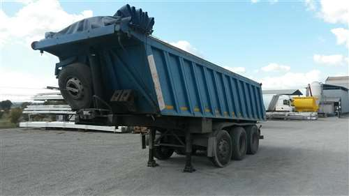SEMITRAILER USED WITH SQUARE STEEL BODY